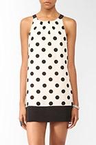 White & Black Polka Dot Dress