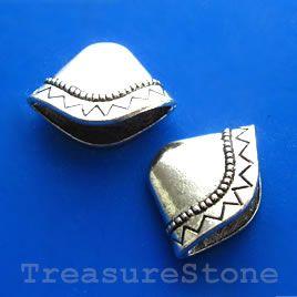 #Cone, antiqued silver-finished, 8x23x18mm. #TreasureStone Beads Edmonton.