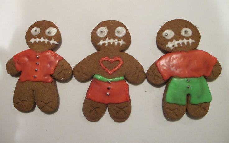 Gingerbread zombie triplets