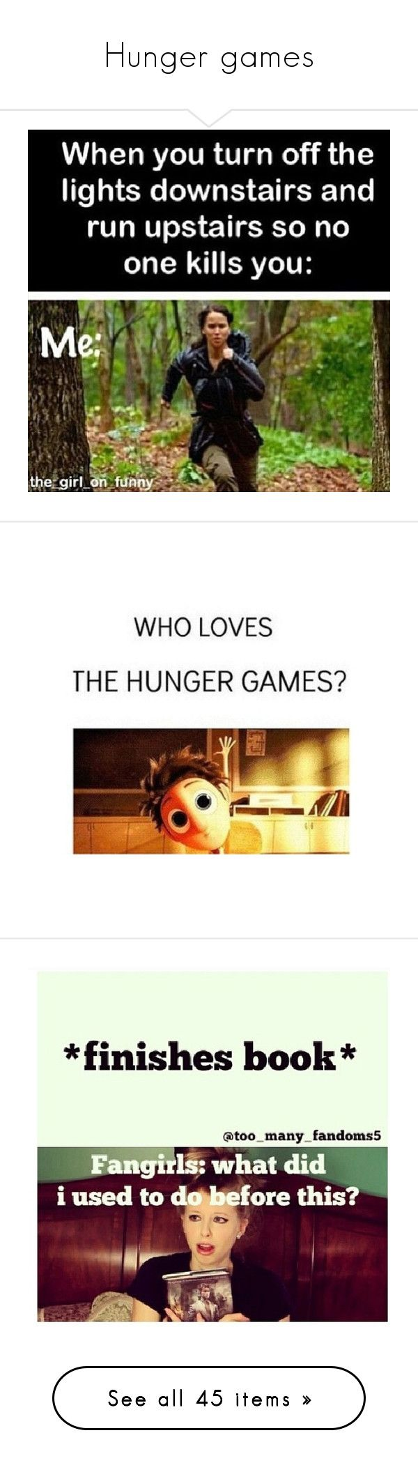 """Hunger games"" by shy-love ❤ liked on Polyvore featuring quotes, funny, pictures, random, backgrounds, fillers, text, phrase, saying and hunger games"