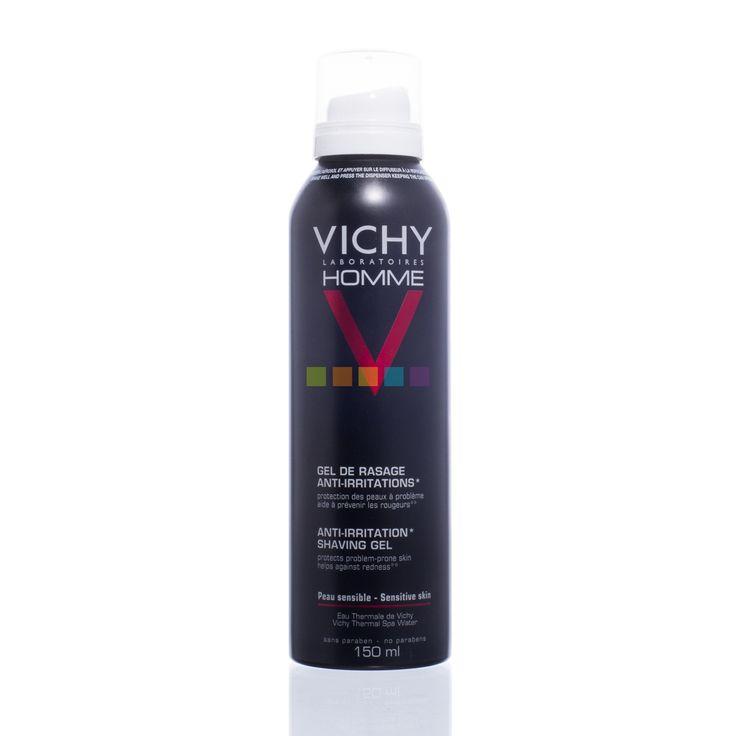 Vichy Homme Anti-Irritatie Scheergel is een aAnti-irritatiescheergel voor mannen met een gevoelige huid of huidproblemen (zoals ingegroeide haartjes, puistjes door het scheren ...) die na het scheren een rode of geïrriteerde huid hebben. Nu in promo bij PharmaMarket!