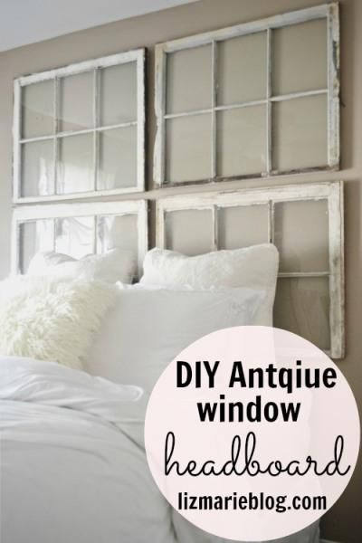 DIY Vintage Window Headboard DIY House Furnishings…