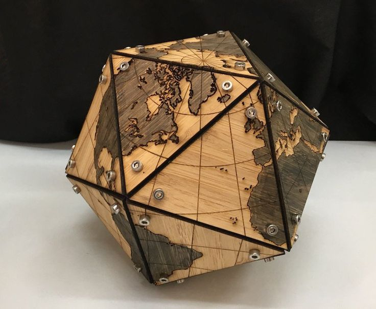 Dymaxion map fuller projection in 3d 3dthursday for Skilled craft worker makes furniture art etc