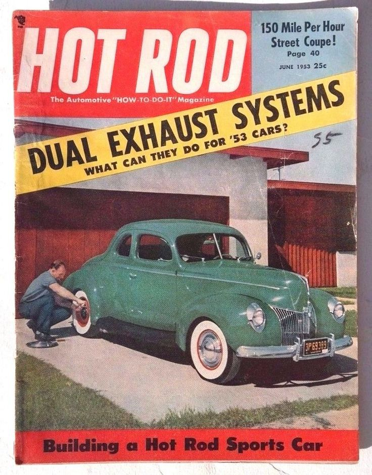 Vtg Hot Rat Rod Car Magazine - September 1953 HOT ROD ( Build Fuel ...