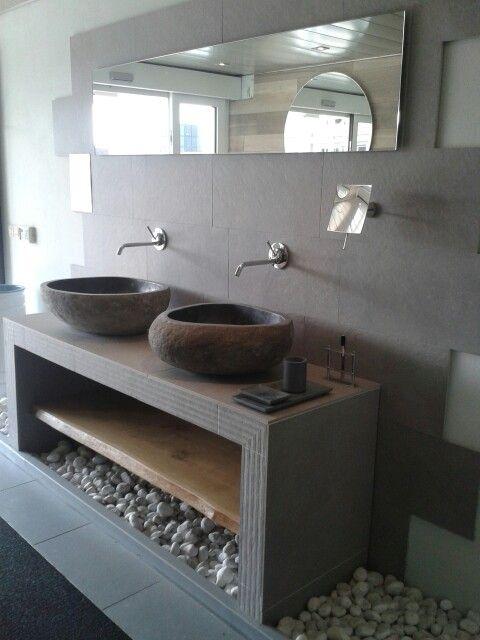 25 beste idee n over natuurlijke badkamer op pinterest neutrale badkamer natuur badkamer en - Badkamer natuur hout ...