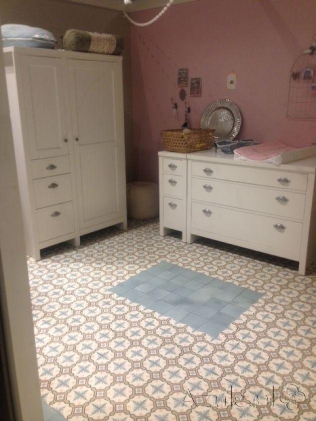 Cement tiles Bedroom - OS Chateau 02 - Project van Designtegels.nl