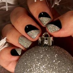 170 best nail polish obsession images on pinterest nail silver and black nails prinsesfo Choice Image