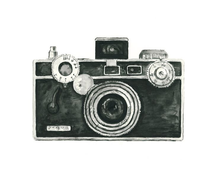 vintage camera watercolor giclee art print // ARGUS // 8X10 print - home decor -- wall art. $20.00, via Etsy. For wall collage.