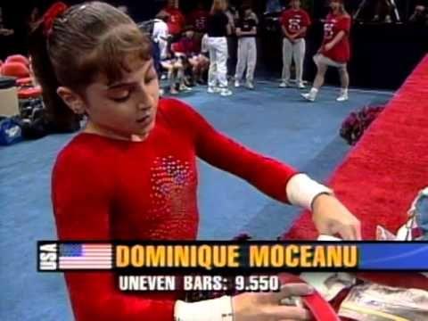 Dominique Moceanu - 1996 Olympics Team Optionals - Balance Beam - YouTube