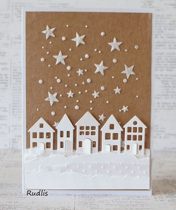 love, life and crafts Rudlis: Kraft + White - a new challenge in the attic