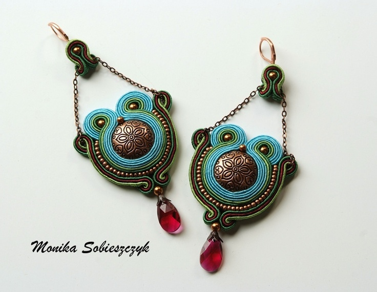 Hand made soutache earrings  sutasze.blogspot.com