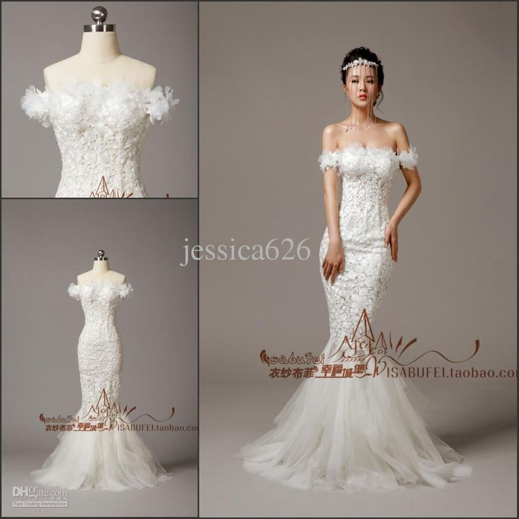Lovely Wholesale Mermaid Wedding Dresses Buy New Arrival Off Shoulder Sexy Lace Hand Mand