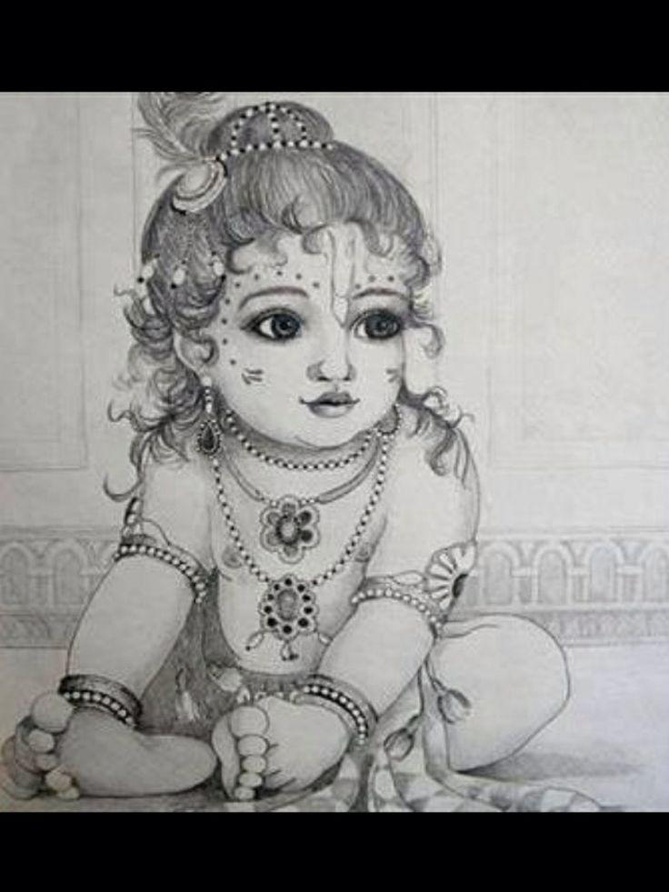 Baby Krishna drawing