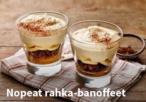 Nopeat rahka-banoffeet, resepti: Valio #kauppahalli24 #rahka #banoffee #jälkiruoka #verkkoruokakauppa