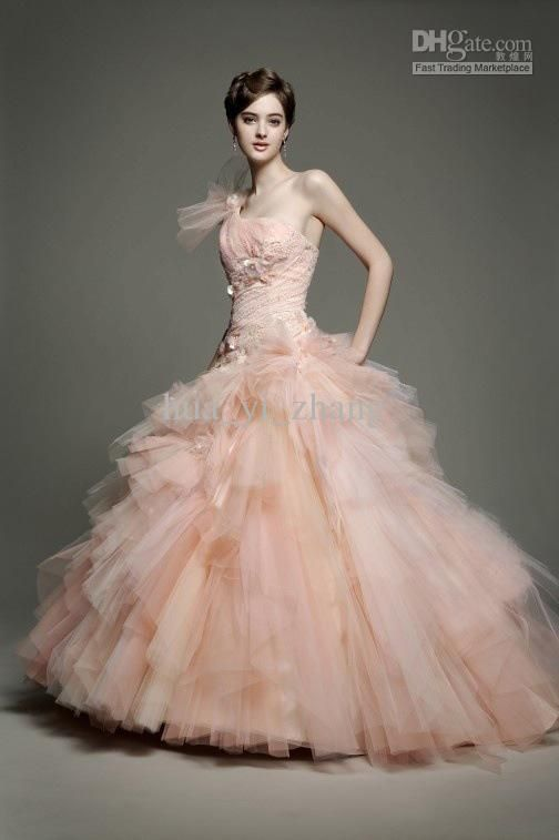 79 best images about ball gowns on pinterest ball gown for Blush tulle wedding dress