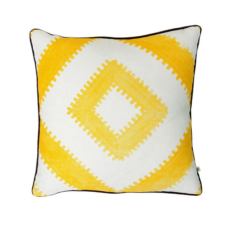 Bonnie & Neil Cushion Sawtooth Tile Yellow