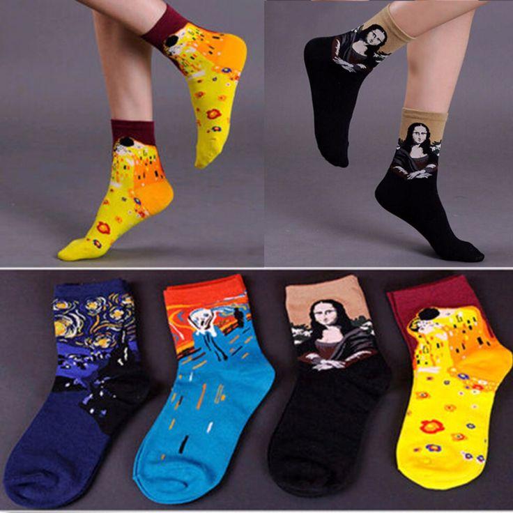 Only US$4.54 , shop Women Girl Cotton Abstractionism Painting Art Cartoon Cute Socks Hosiery Stocking  at Banggood.com. Buy fashion Stocking & Pantyhose & Legging online.