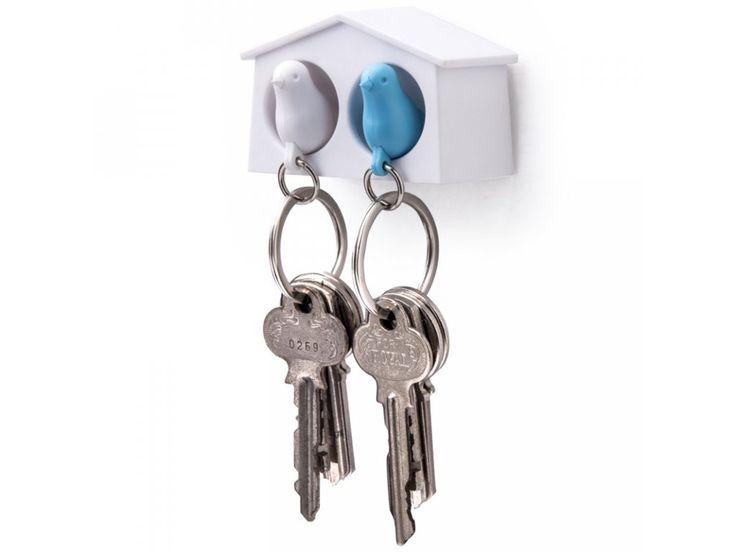 Ptačí budka je originální držák na klíče