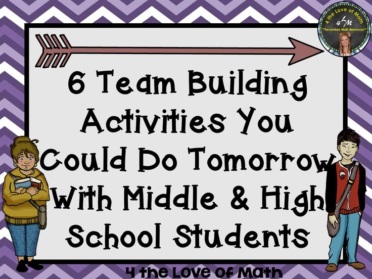 6 Team Building Activities You Could Do Tomorrow! {Appropriate for Middle and/or…