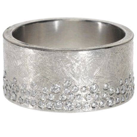 TRDR395-WH    Palladium with white brilliant cut diamonds (.85ctw)    from Todd Reed