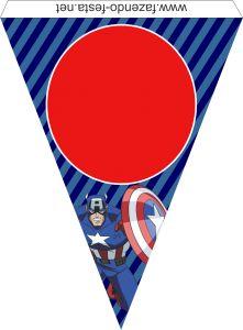 captain america flag printable