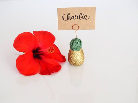 Pineapple wedding place card holder