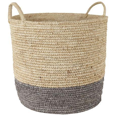 Bright Band 2 Handle Basket Large  Grey