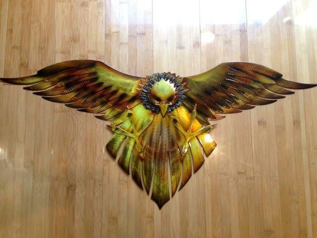 Aboriginal  Steel  Art. Wedge Tail Eagle.