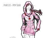 OTAKool: get your nerdy look! MARI MAKINAMI pink suit inspired hoodie