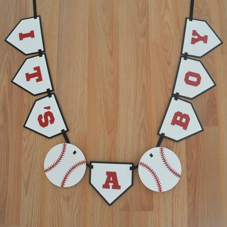 baseball itu0027s a boy banner baseball theme baseball baby shower baseball decoration sports baby shower laser cut