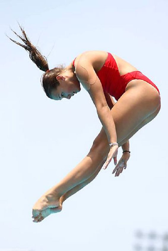 Pauline Ducruet of Monaco during The Qualification of High Diving 3m Board At The First Youth Olympic Games 2010 in Singapore