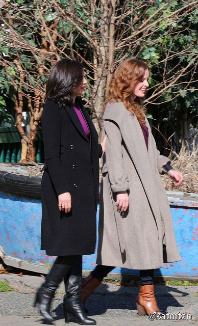 Lana Parrilla & Rebecca Marder on set - March 3, 2015... the sisters back together!!!