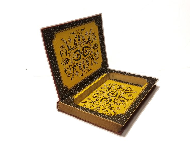 Hollow Book Safe Shakespeare Cloth Bound vintage Secret Compartment Keepsake Hidden Security Box by BookEndDesigns on Etsy  hide it in plain sight