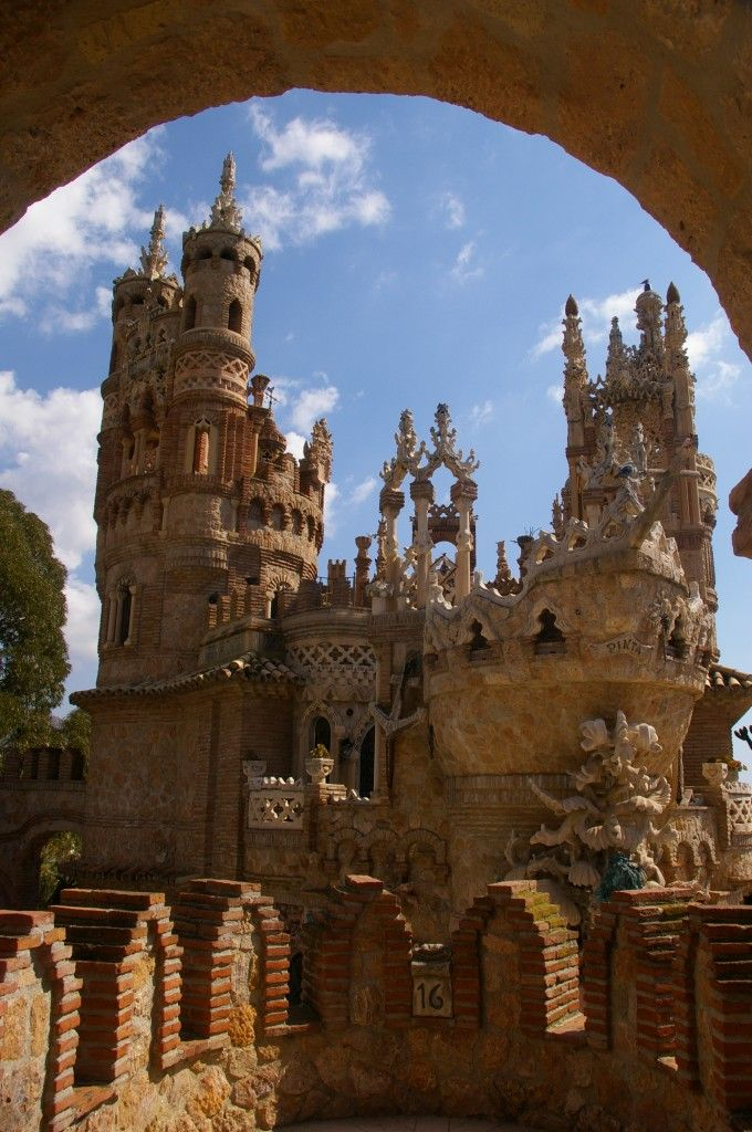 Colomares Castle in Benalmadena, Malaga, Spain