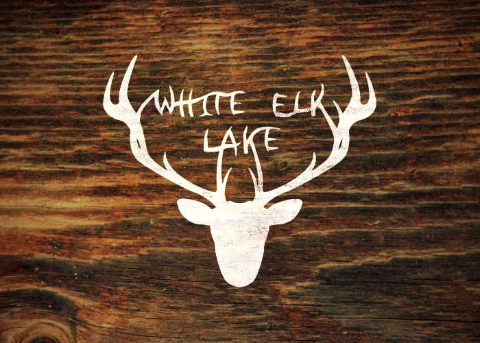 Nice handlettering integrated into the illustrated silhouette. White Elk Lake, Minnesota. By Nicole Meyer (Branding 10,000 Lakes).