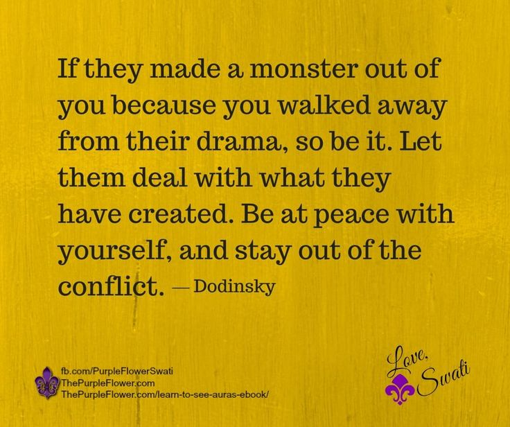 no contact~avoid the drama