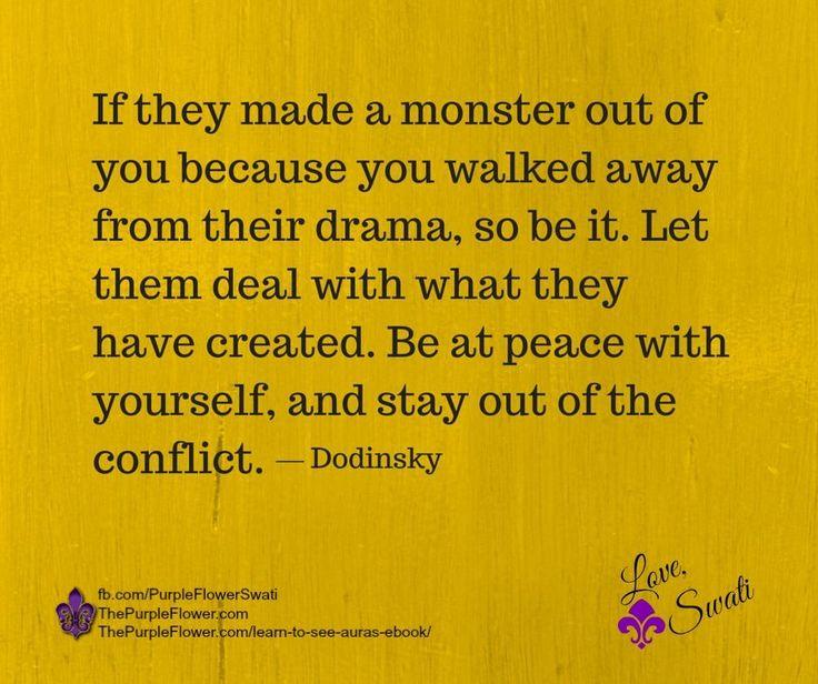 no contact~avoid the drama