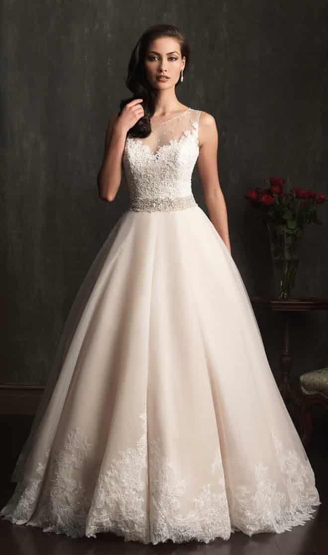 Vestidos de novia con encaje 2014