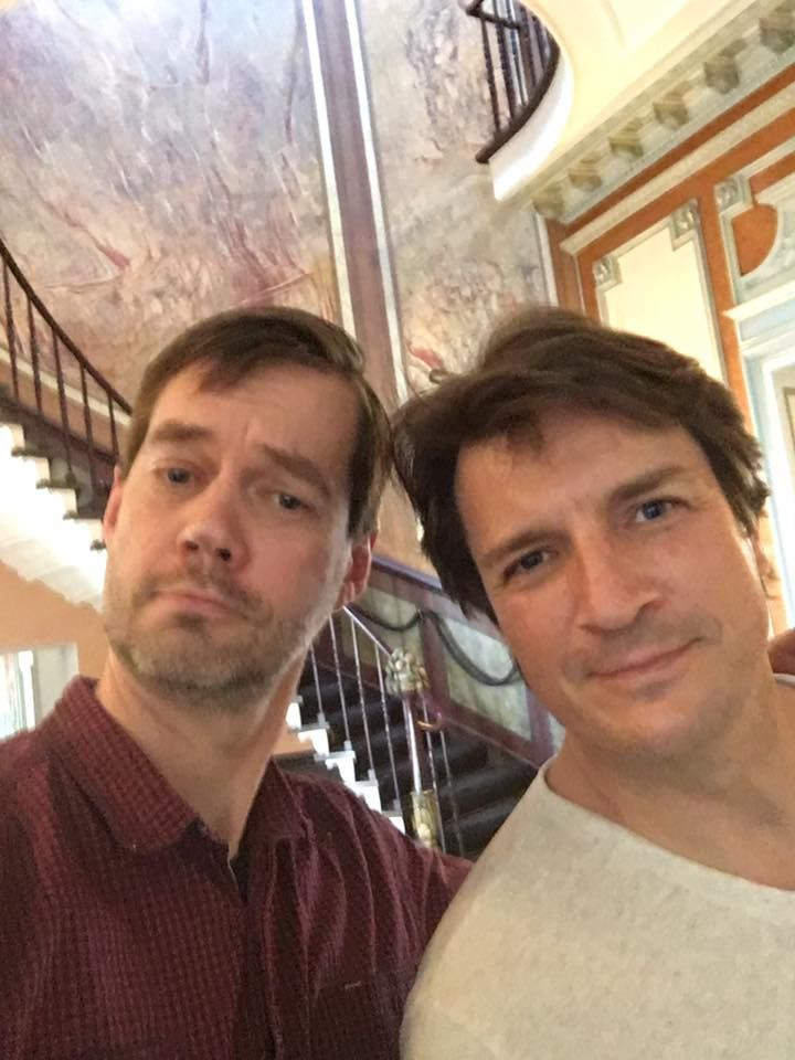 FACTS Convention @FACTSConvention  3/30/17  Belgium has become 120% more awesome: @NathanFillion has arrived! He's safe and sound with the FACTS Founding Father and ready for FACTS!