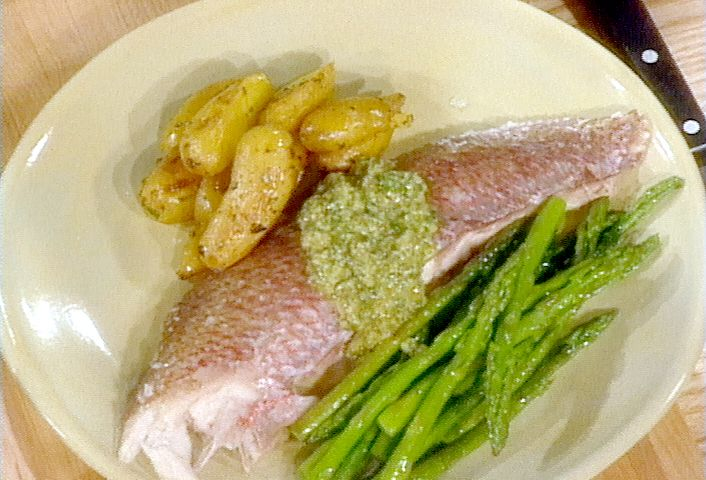 Whole Red Snapper Baked in Salt Recipe : Food Network - FoodNetwork.com