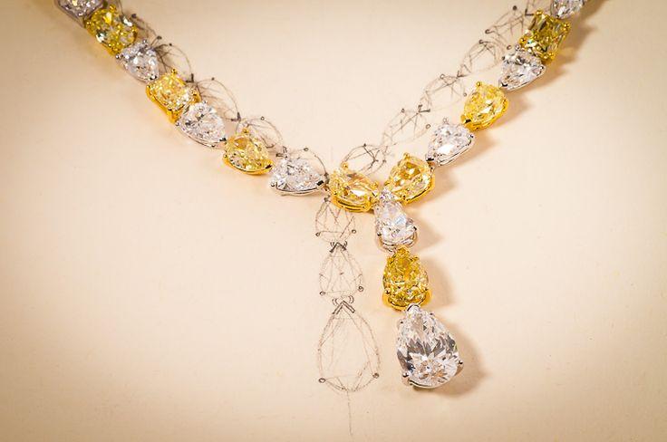 customised diamond, diamond necklace