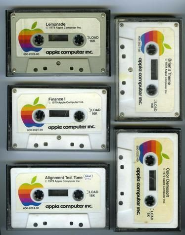 Data Cassette Tapes. This is how I loaded software on an Apple II in 1978 before I bought a disk drive.