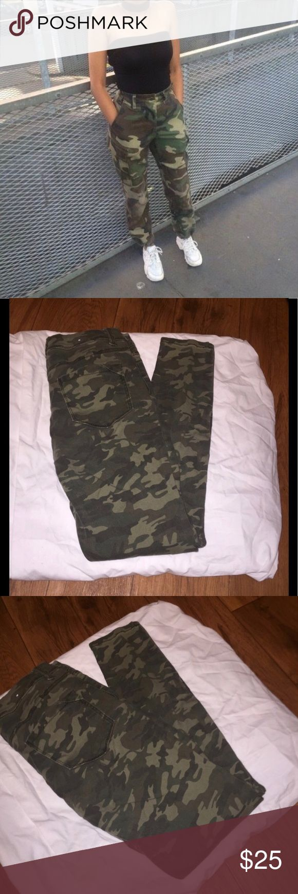 Camouflage skinny jeans Camouflage Camo High Rise waisted Skinny Jeans. Size 5. Perfect condition. Mossimo by target. New with out tags. Mossimo Supply Co. Jeans Skinny