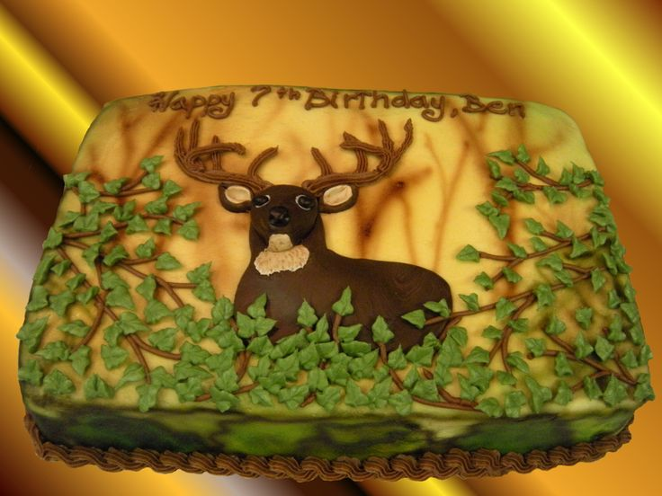 deer cake ideas | Deer/Camoflage Birthday Cake (Click to Enlarge)