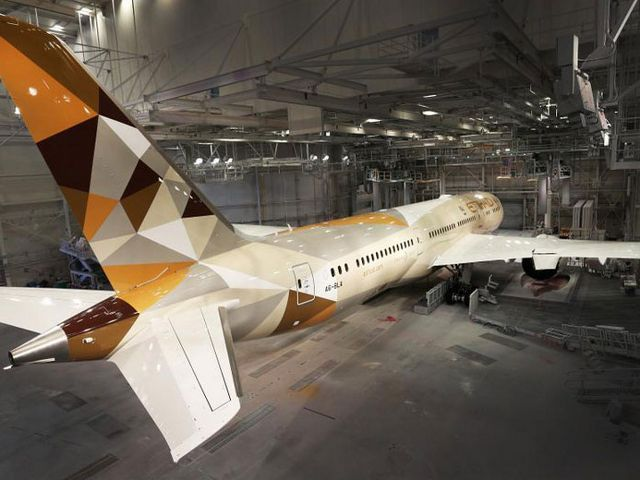 Photos: Etihad unveils new livery on Boeing 787, Airbus A380