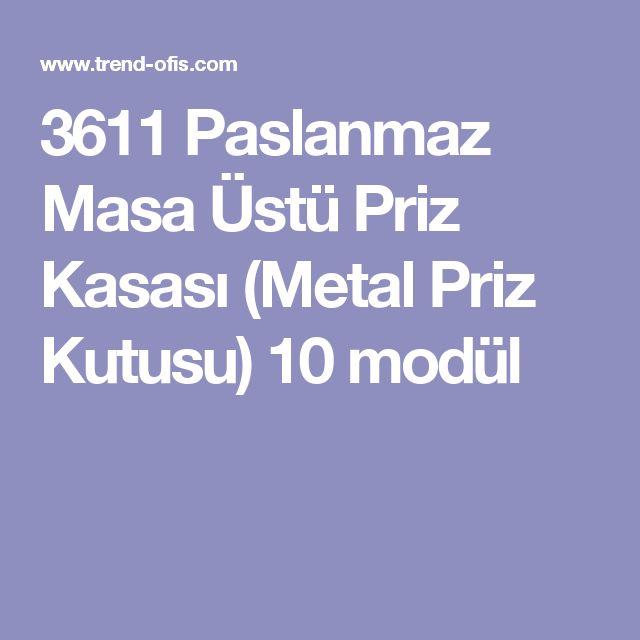 3611 Paslanmaz Masa Üstü Priz Kasası (Metal Priz Kutusu) 10 modül