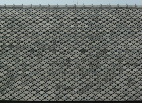 Roof texture consisting of dark grey shingles installed in for Roof tile patterns