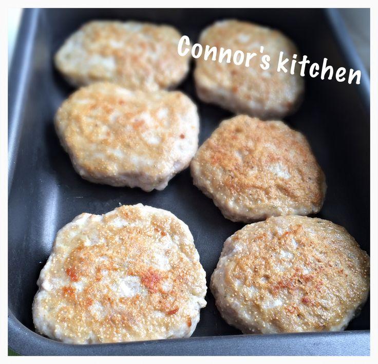 Chicken burger with amaranth seeds