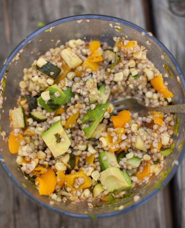 Roasted Zucchini, Corn, and Barley Salad {Mountain Picnic} | Naturally Ella