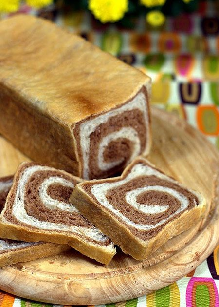 Pan de molde bicolor